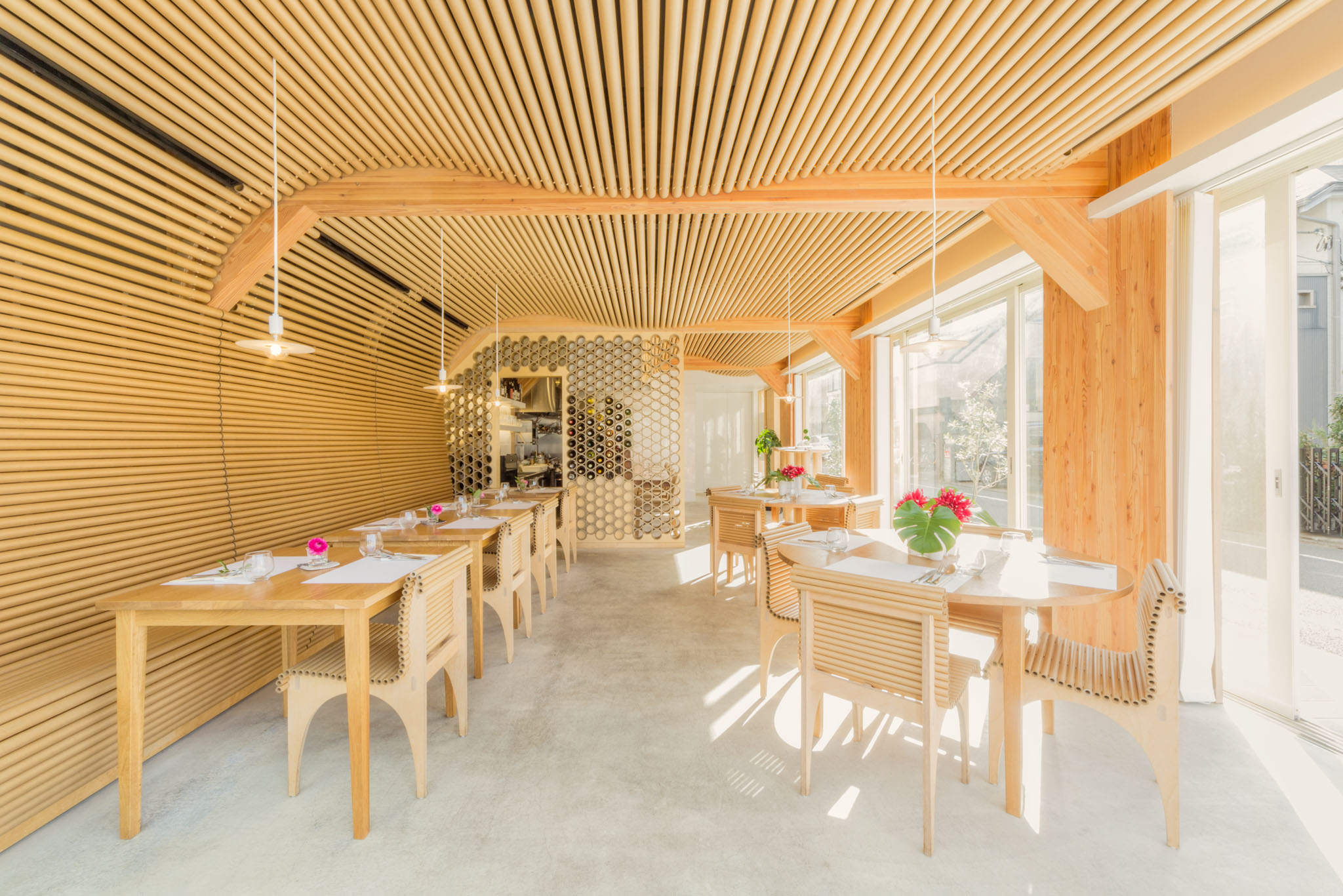 Restaurant Vin Sante and residential building N combined in one project in Tokyo 96